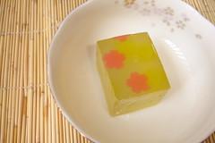 Sakura Wagashi (Tacymevol) Tags: dessert japanese sweet cherryblossom littletokyo confectionary manju wagashi yokan sweetbean fugetsudo