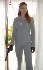 ttn gungirl (leatherindy) Tags: black leather gun gloves silencer hitwoman tentilnoon