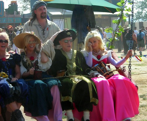 Hugh Hefner and his Girls Next Door @ Renaissance Pleasure Faire in Los Angeles by luv to travel.