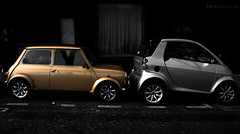 mini smart(alism) (Dr.Andre) Tags: paris france smart silver gold mini cooper 75007 rivegauche andreb drandre andrebeaverhausen