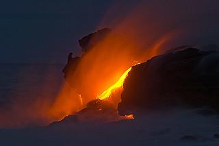 Lava Flow, Volcanoes National Park, Hawaii
