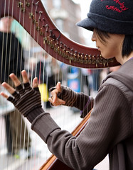 Harpist, Dublin (C) 2007