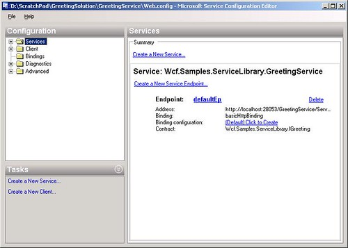 WCF Service Configuration Editor