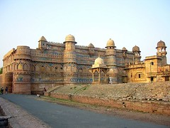 Man Mandir Palace, Gwalior Fort, Gwalior, Madhya Pradesh, India. (Large size view recommended for the details of tile work). (Kanad Sanyal) Tags: india man history tile fort indian palace tiles mp gwalior hun raja singh madhyapradesh scindia scindias rajamansingh gwaliorfort roopmati