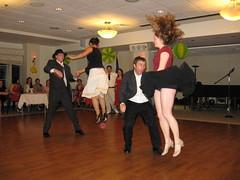 Zoot Suit Frog Hop (avsfan1321) Tags: people usa hair dance jump unitedstates dancing unitedstatesofamerica skirt swing swingdancing skirts aerials lehigh steelcityswingers froghop
