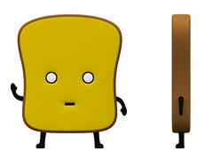 3D Mr Toast rendering