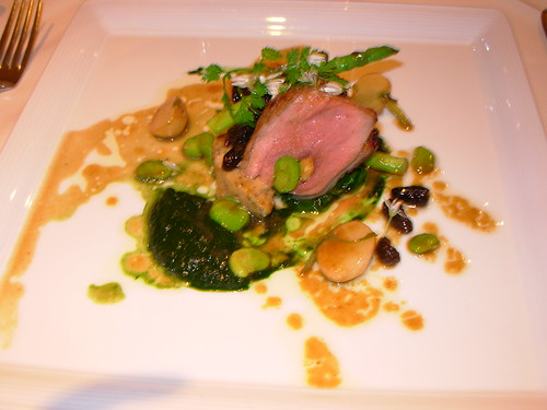 Crown at Whitebrook - Lamb with Morels and Asparagus