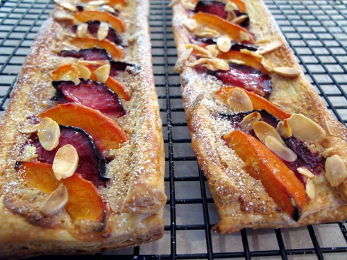 pluot and aprium tarts with frangipane