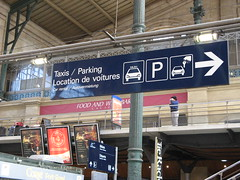 Gare Du Nord - Taxi Parking Wayfinding (brunoboris) Tags: paris sign parking taxis trainstation signage arrow carrental garedunord wayfinding tierack directionalsignage wayfindingsignage locationdevoitures