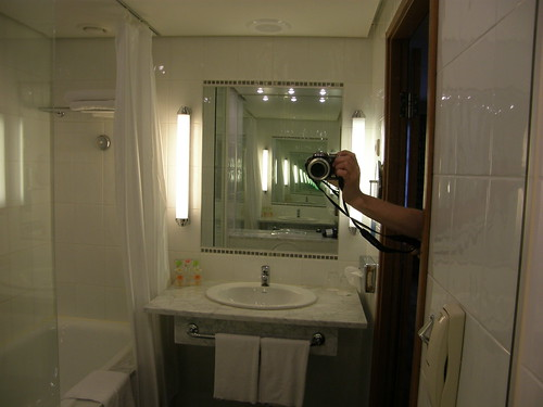 Hotel bathrooms are fun