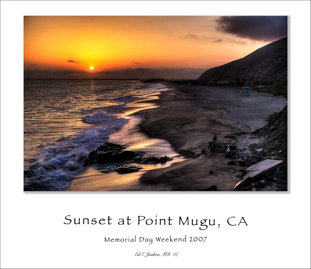 Sunset at Point Mugu State Park, CA