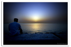 Waiting (Hussain Shah.) Tags: sunset d50 nikon waiting looking sigma kuwait 1020 sharq perfectangle impressedbeauty aplusphoto