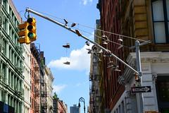 MircK - Shoefiti (imNOTaPh) Tags: shoefiti mirck newyork d3100 usa america ontheroad roadtrip sky chelsea soho sohonewyork