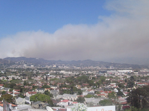 Fire in the Hollywood Hills