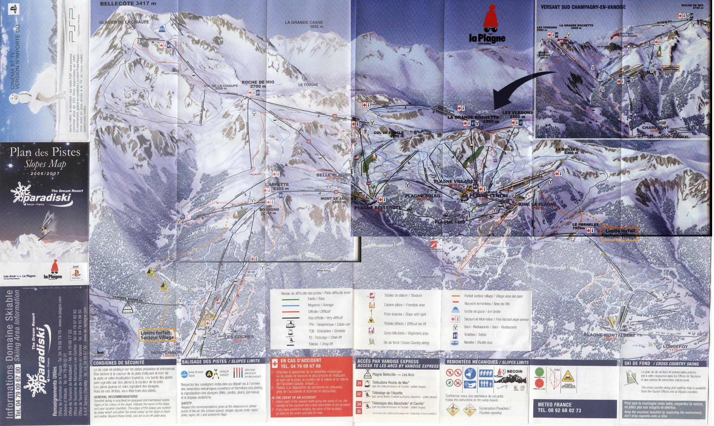 La Plagne Piste Map and Mini Review