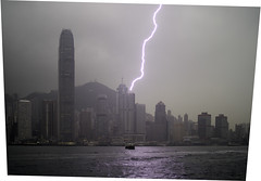 Hong Kong Lightning (willem velthoven) Tags: china lighting water weather ferry hongkong star harbour central victoria willem dayafter velthoven willemvelthoven hongkongchina