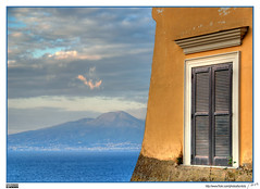 Vesuvius view from Sorrento - by MorBCN