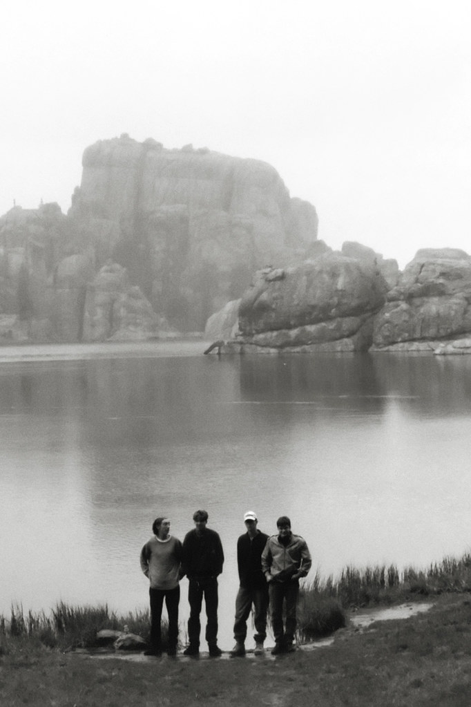 Black hills in the fog