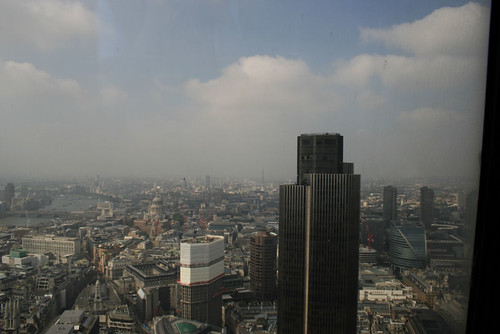 The views from the top floor of The Gherkin