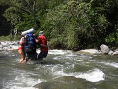 Vadeando el Río Grande