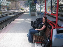Sheri on the Zell am See train station
