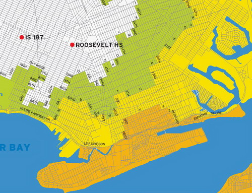 Southern Brooklyn Flooding Map