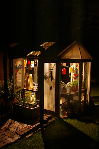 Greenhouse by night, par House'n'baby