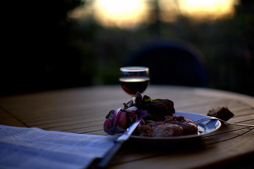 Supper, alone