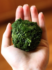 Kale, steamed and squeezed