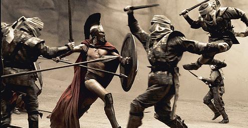 Pelea 300 espartanos