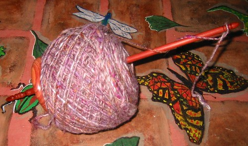 Spindle-spun Yarn Cake!