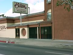 Exterior view of Phil Ahn's Moongate Restaurant (2007) (dogwelder) Tags: california restaurant vannuys april zurbulon6 2007 losangelespubliclibrary lapl reshoot photocollection panoramacity zurbulon gatturphy