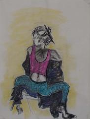Attitude (Amudha Irudayam) Tags: pastel drawings charcoal figuredrawing sketches amudha poraiture