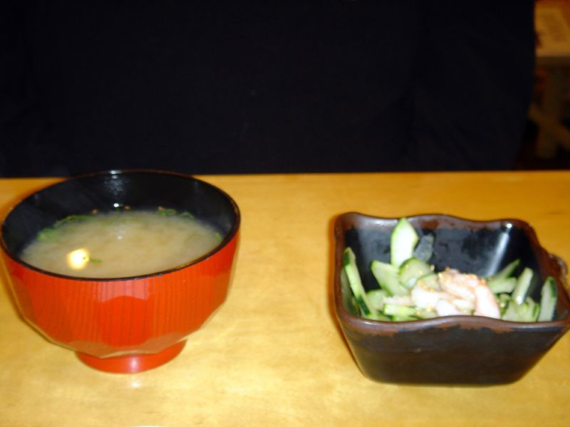 Miso Soup & Cucumber Salad