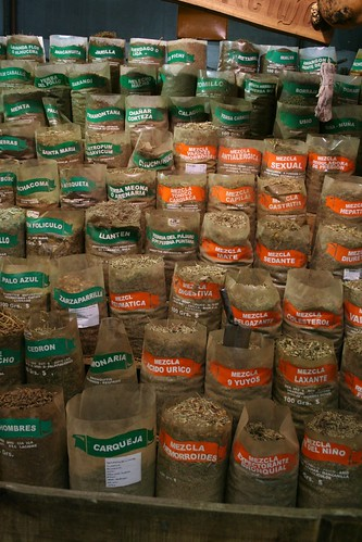 Hierbas en el mercado