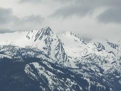 Garland Peak, Devils Smokestack and Rampart Mountain (partially under clouds)