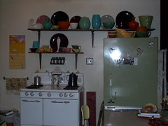My Bauer Kitchen (.Hollie.) Tags: kitchen 1940s stove bauer pottery vntage