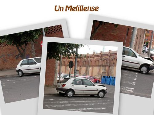 collage coche abandonado