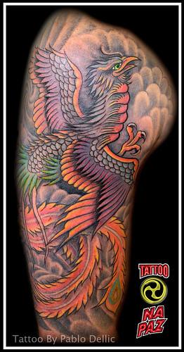 Fenix Tattoo by Pablo Dellic by Pablo Dellic 
