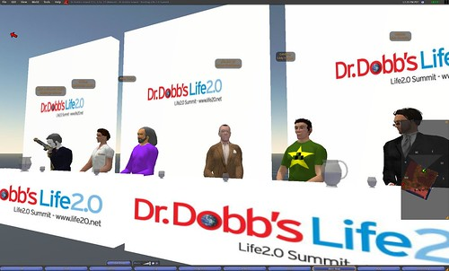 Panel at the Life 2.0 conference in Second Life