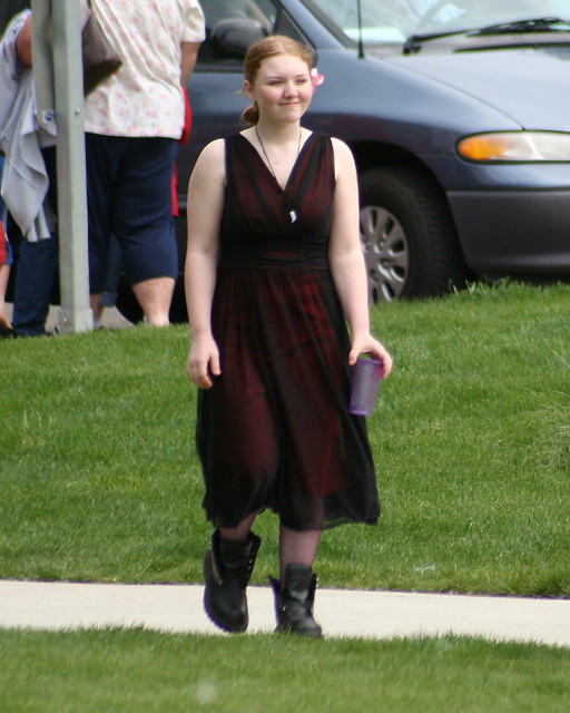 Flower Girl in Combat Boots