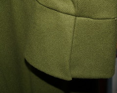 cuff (Yorktown Road) Tags: green wool handmade sewing coat textile fabric flare cuff sleeve sewn madebyhand