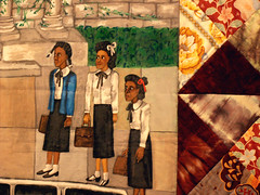 Story Quilt Detail:  Faith Ringgold