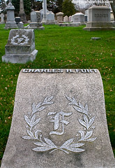 Charles Fort's Grave, Albany Rural Cemetery, New York. 1874 - 19