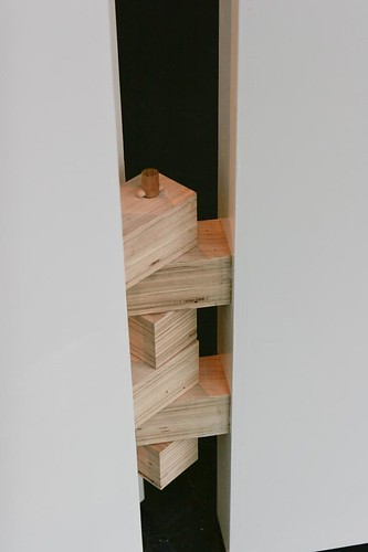 the hinges of the wall built for the installation by Justin Parr