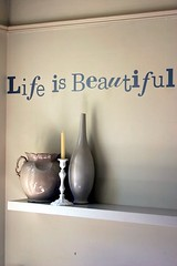 life is.... (TeaButterfly) Tags: blue stilllife colors purple mutedcolors lifeisbeautiful wallsticker