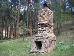 Mogollon Rim - Aspen Springs fireplace
