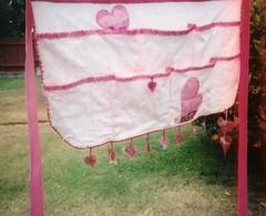 Vinyl hearts apron
