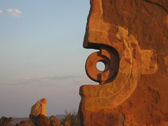 093 the Living Desert (Parkaboy) Tags: summer sculpture art rock stone circle bush rocks dusk stones australia newsouthwales outback aboriginal shape brokenhill livingdesert barrierranges sculpturesymposium bajoelsoljaguar sundownhill underthejaguarsun