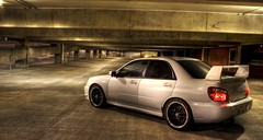 Subaru Tecnica International (brentjholmes) Tags: road door white black game color car composition port canon lens rebel xt lights utah video exposure different garage parking rally wheels wing performance machine lot tint institute international turbo chrome fantasy adobe subaru flare access mormon passport rim hid wrx sti processed lds hdr radar polished exhaust mismatch plugins spoiler tecnica peopleschoice x50 photomatrix superaplus aplusphoto